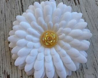Bridal Hair Clip - Wedding Hair Clip - Bridesmaid Hair Clip - Flower Girl Hair Clip - Flower Hair Clip - Yellow Wedding Hair Clip -Hair Clip