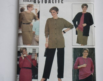 Butterick 6145  - UNCUT Pattern for Misses Wardrobe - Dress, Jacket, Top, Pants and Skirt   -