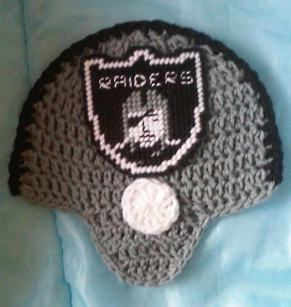 Crochet Raiders Football Team Helmet Potholder Pattern