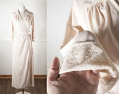 Vintage 60s Val Mode Robe | Vintage Bathrobe 60s Lingerie 70s Lingerie Vintage Nightgown Vintage Robe Lace Robe Lace Nightgown 60s Robe