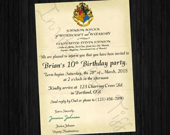 Unique Harry Potter Invites Related Items