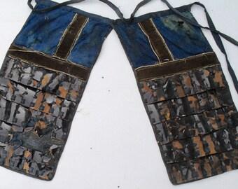 Antique Japanese Samurai Sangu Haidate thigh armour