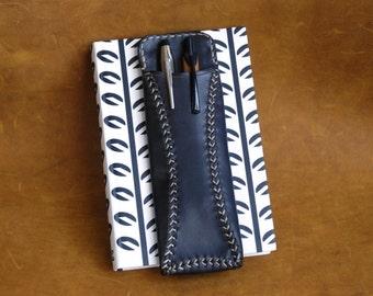 Leather Pen Case, Leather Pen Holder, Oiled Leather Pen Case, Pen Case, Pen Holder, Leather Pen Cover, Leather pen pouch, Handmade Pen Case.