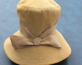 MR. John Jr. Velvet-velour Bucket Style Hat in Wheat