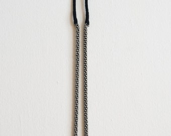Intricate Silver Beaded Rope Necklace
