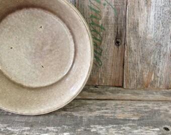 Vintage 1920-1940's MP Mountainside Pottery Crock Bowl in Tan, Vintage Crock Bowl, Vintage Crock Planter