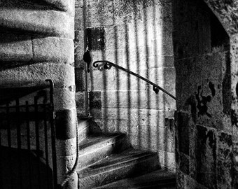 London England Tower of London staircase architecture Fine art print photography color OR black and white.  11x14 mat ready to frame & hang