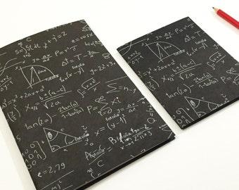 """Math notebook, lined journal, pocket notebook with lines, diary, black and white, 32 lined pages, 5.75""""x8.75"""" or 4.5""""x5.75"""""""
