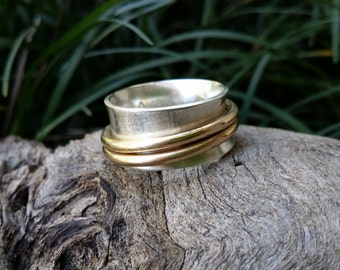Spinning ring,worry ring,meditation ring, anxiety ring, spin ring, silver spin ring, made in Australia, fiddle ring, spin ring, personalized