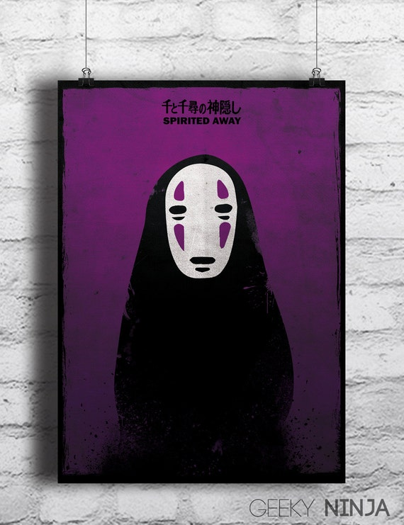Spirited Away No Face Poster - Studio Ghibli Hayao Miyazaki Inspired No Face Poster - Homewall Decor Print