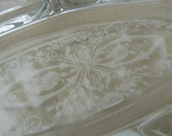 Cambridge Glass Diane Relish -  Five Section Etch Elegant Glass