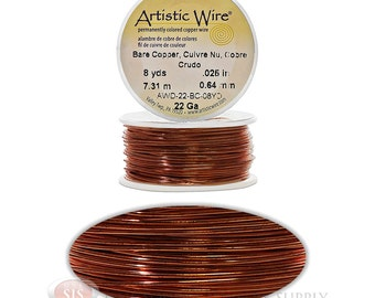 22 Gauge Copper Artistic Craft Wire 24 Feet 7.31 Meters Jewelry Beading Crafts (Free Shipping USA)