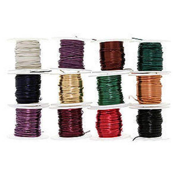 12 spools or assorted colors craft beading artistic wire 22 for 22 gauge craft wire