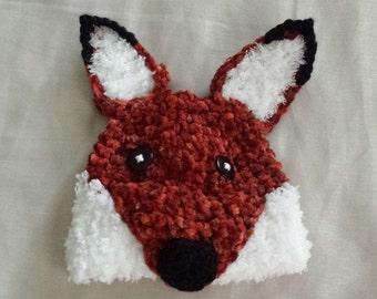 Fox Hat Infant Fox Hat,Crochet Red Fox Hat,0-3 Month Baby Fox Hat,Crochet Child Hat,Halloween Hat,Crochet Fox Hat,Crochet Gift,Ready To Ship