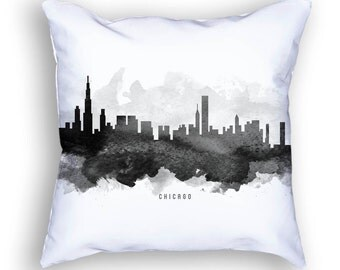 Chicago Pillow, 18x18, Chicago Skyline, Chicago Cityscape, Chicago Throw Pillow, Cushion, Home Decor, Gift Idea, Pillow Case 11
