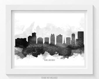 Orlando Florida Skyline Poster, Orlando Cityscape, Orlando Art, Orlando Decor, Home Decor, Gift Idea 11