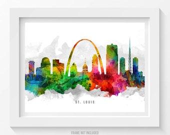 st louis missouri skyline poster st louis cityscape st louis art st louis decor st louis print home decor gift idea 12 - Home Decor St Louis Mo