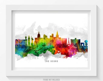 Las Vegas Nevada Skyline Poster, Las Vegas Cityscape, Las Vegas Art, Las Vegas Print,  Home Decor, Gift Idea 12