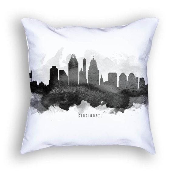 Cincinnati Pillow 18x18 Cincinnati Skyline Cincinnati