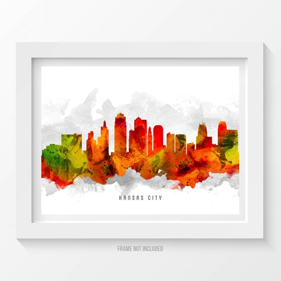 kansas city missouri skyline poster kansas city decor kansas home decor kansas city mo trend home design and decor