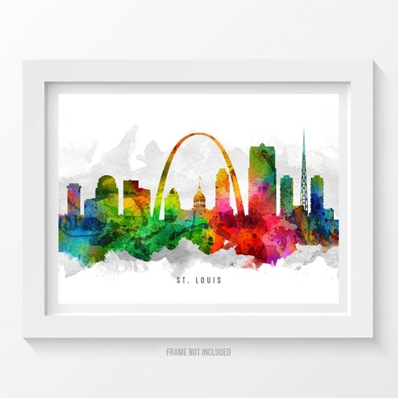 home decor stores in st louis mo st louis missouri skyline poster st louis cityscape st louis 13363