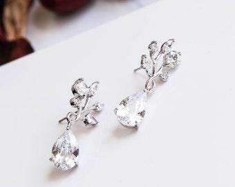statement wedding earrings Rhinestone Earrings, Art Deco Wedding Jewelry - Vintage Inspired Bride Jewelry, Bridal Jewelry