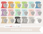 Stand Mixer Clipart, Kitchen Clip Art Baking Vintage Antique Cook Cooking Retro Food Icon Cute Digital Graphic Design Small Commercial Use