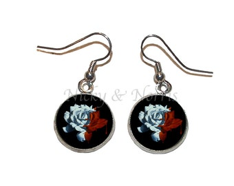 Painting the Roses Red Earrings - Made to Order