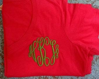 SALE - Personalized Hot Pink Night Shirt - mastercircle monogram
