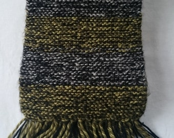 Black, Gold and Silver Scarf