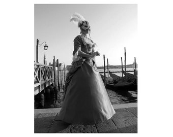 Black and White Photography - Venice, Italy - Italian Decor / Italian Art