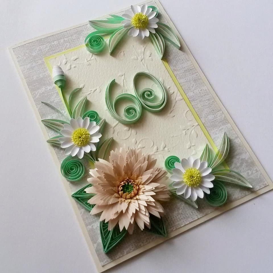 60th Birthday Card Handmade Birthday Card Floral 60th – Handmade 70th Birthday Cards