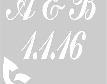 Wedding Signs Wedding Stencil - Celtic Save The Date in Reuasble Mylar
