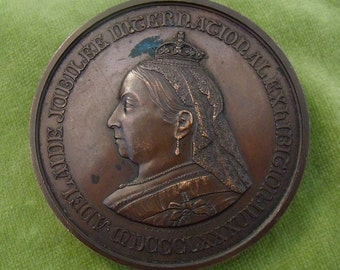 Antique Victorian Adelaide Jubilee Exhibition First Order Of Merit Bronze Medal (3890)