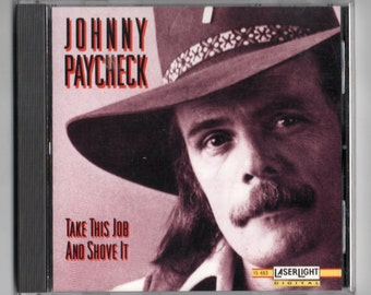 JOHNNY PAYCHECK Take This Job And Shove It Country Music CD 1992 Free Post in Australia