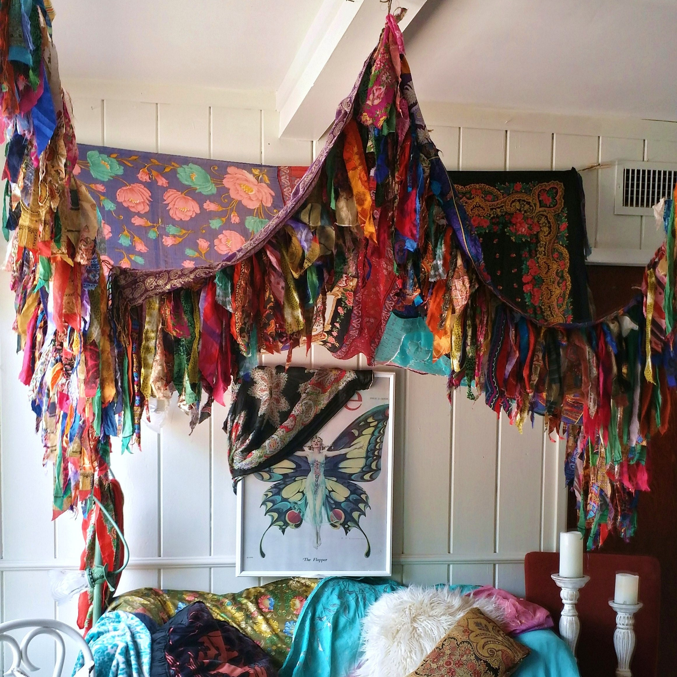 Unique decor for home boutique parties weddings by hippiewild for Gypsy bedroom decor
