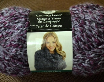 Yarn Bulky Loops & Threads Country Loom in Red, Purple, Or Blue-Green