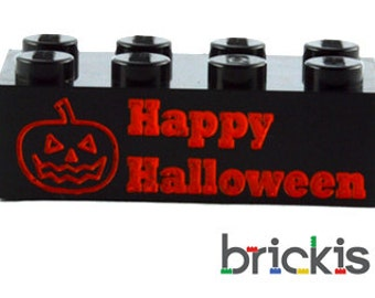 Personalized LEGO® brick for HALLOWEEN engraved