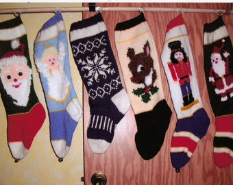 Knitted Christmas stockings-Names added free