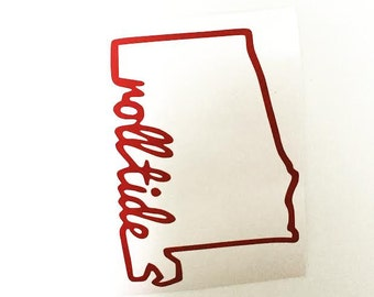 Roll Tide State Decal