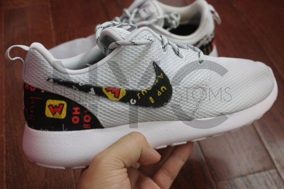 1127a96057840 durable service Nike Roshe Run Grey White Traditional Mickey Mouse by  NYCustoms