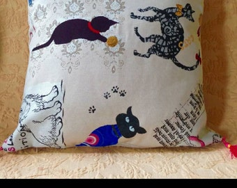 "Cushion ""colourful cats"""