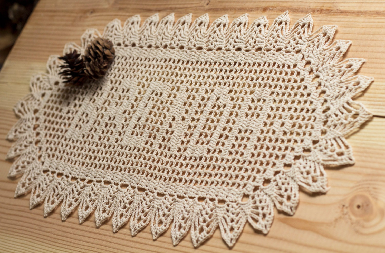 Crochet Wedding Gift: Crochet Name Doily Crochet Doilies Filet Crochet Unique