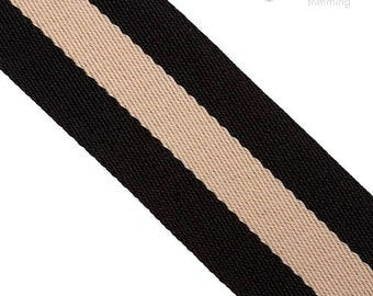 40mm Striped Polyester Webbing :360085WB