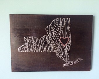 New York State Nail String Art