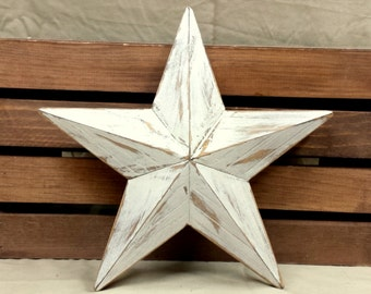 Wood Star, Tree Topper, Rustic Beveled Star, 12 inch White Star, Handmade Wood Star, Rustic Wood Star, Christmas Decoration