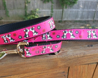 Kissing Boston Terriers Collar - Matching Leashes Available