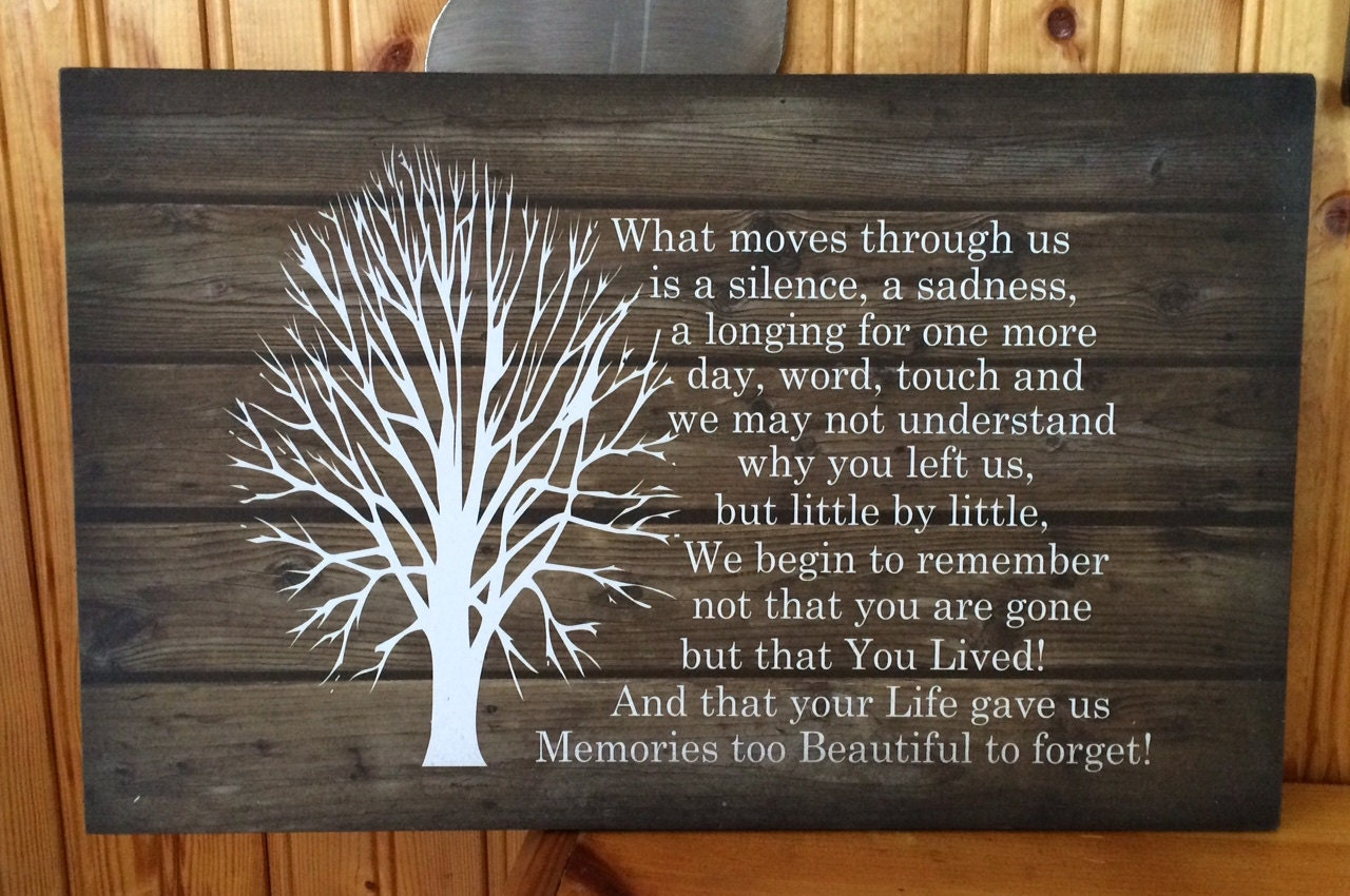Christmas Tree Without Ornaments Sympathy Gift Beautiful Memories Beautiful Soul Wood Sign Or