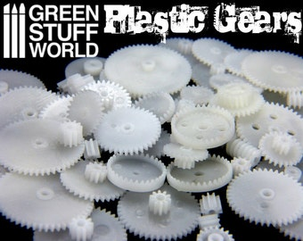 58x PLASTIC COGS and GEARS Steampunk - Clock Watch Robot Parts - Diy Beads