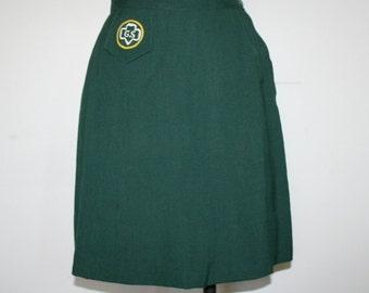 """1960s Girl Scouts Cadette Skirt GS 26"""" Waist"""